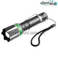 Фонарик переносной AuroraSvet- 21, 12v, zoom (аккумулятор/батарейки). LED фонарь. Светодиодный фонарь.