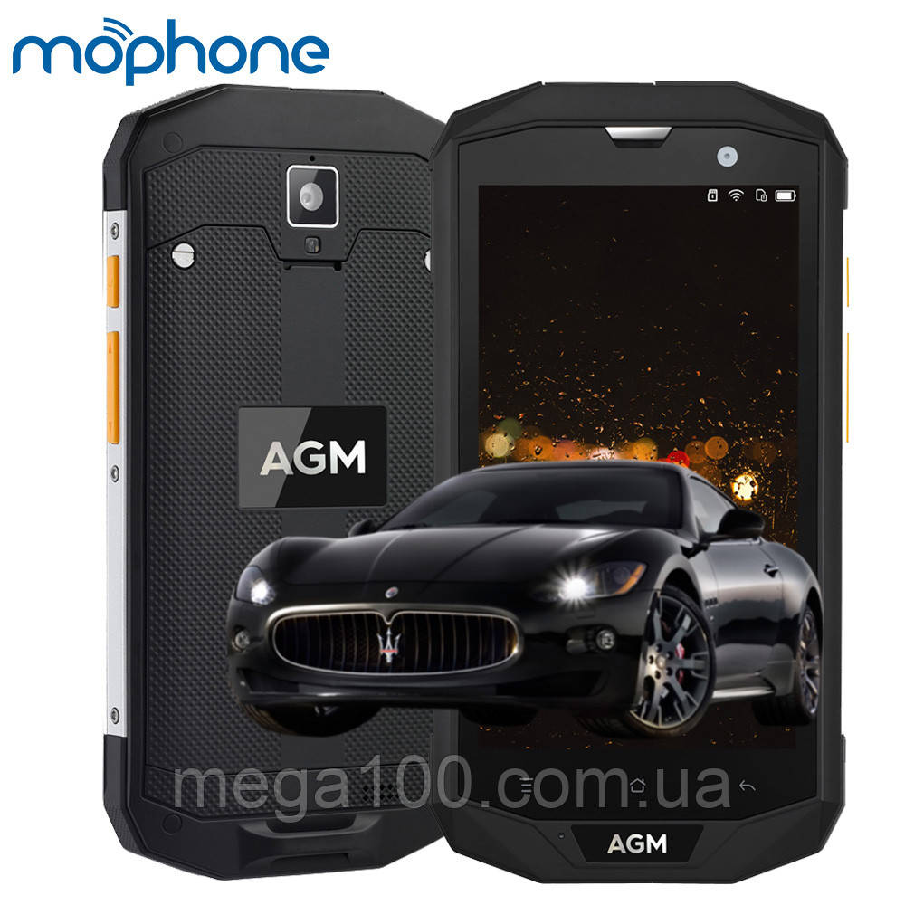 "Смартфон AGM A8 противоударный (""5-экран, памяти 4/64, акб 4050 мАч)"