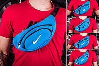 Поясная сумка Nike, Fred Perry, Reebok, Mr.Bull, цвет - голубой, фото 1