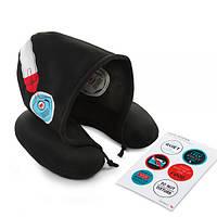 Подушка с капюшоном для путешествий Silent Music Donkey Черная