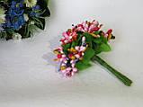 Тичинки складні на гілочках.Колір мікс.- рожевий+ малиновий., фото 2