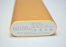 Повербанк Power bank Xiaomi 16 000 mAh- с  2 USB порта- Внешнее зарядное устройство (реплика), фото 3
