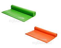Коврик для йоги Power Play 0,4см зеленый и ораннжевый