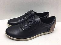 Мужские кроссовки ECCO черно-карамельный