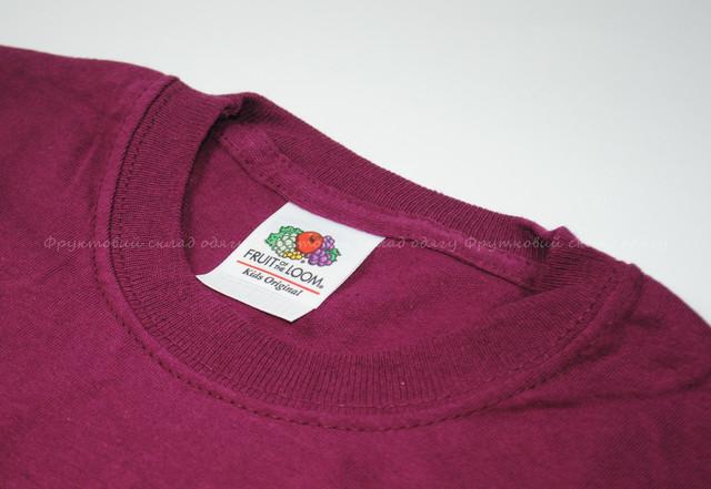 Бордовая детская легкая футболка