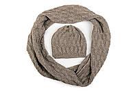 Комплект шапка и шарф снуд