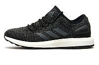 Кроссовки мужские Adidas Ultra Boost M, текстиль, черные с серым, р. 41 42 43 44 45