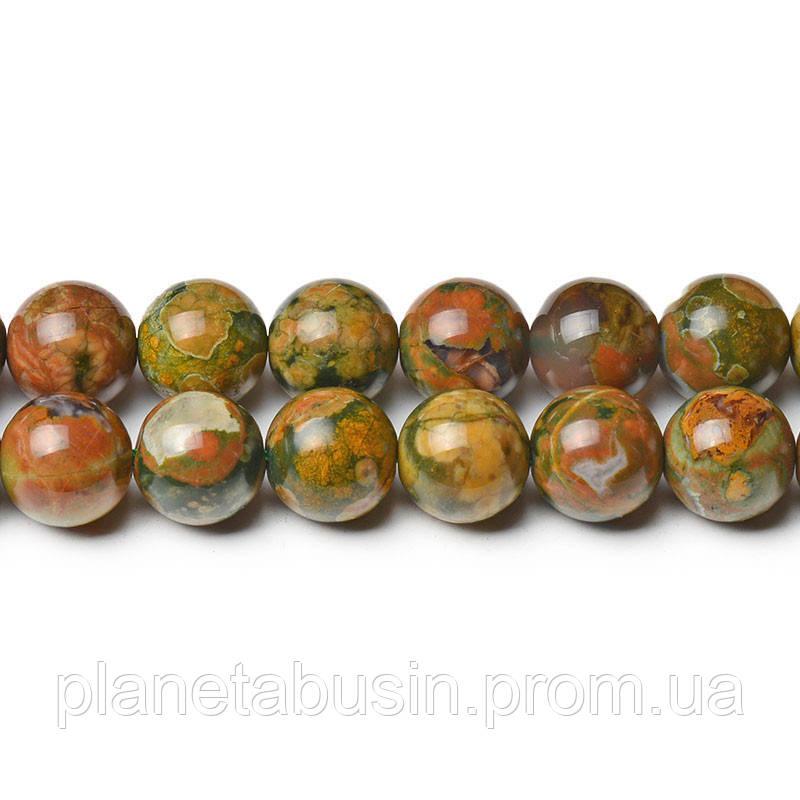 8 мм Риолит, CN277, Натуральный камень, Форма: Шар, Отверстие: 1мм, кол-во: 47-48 шт/нить