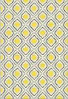 Ковёр Kolibri жёлтые ромбы - серый 2х3 м.