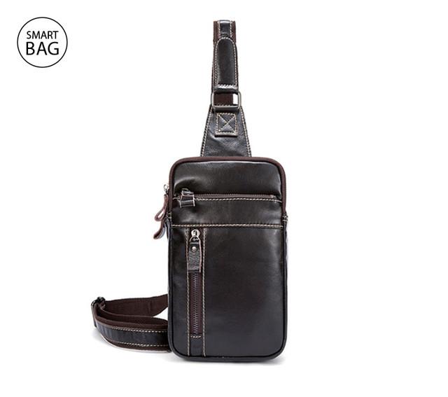Кожаный рюкзак на одно плечо Marrant