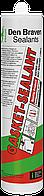 Den Braven GASKET-SEALANT 310мл Термостойкий герметик эластичный <красный>