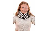 Шарф снуд шерстяной женский модный двухцветный