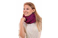 Снуд шарф шерстяной женский в полоску