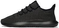 """Мужские кроссовки Adidas Tubular Shadow Knit """"Black"""" (Адидас Тубулар) черные"""