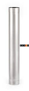 Труба для дымохода с нержавеющей стали одностенная L=1м,