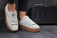 Женские кроссовки Puma Rihanna серые 2700