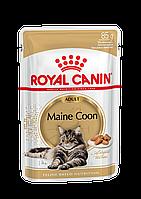 Royal Canin Maine Coon (кусочки в соусе)  85г*12шт-паучи для кошек породы мейн-кун