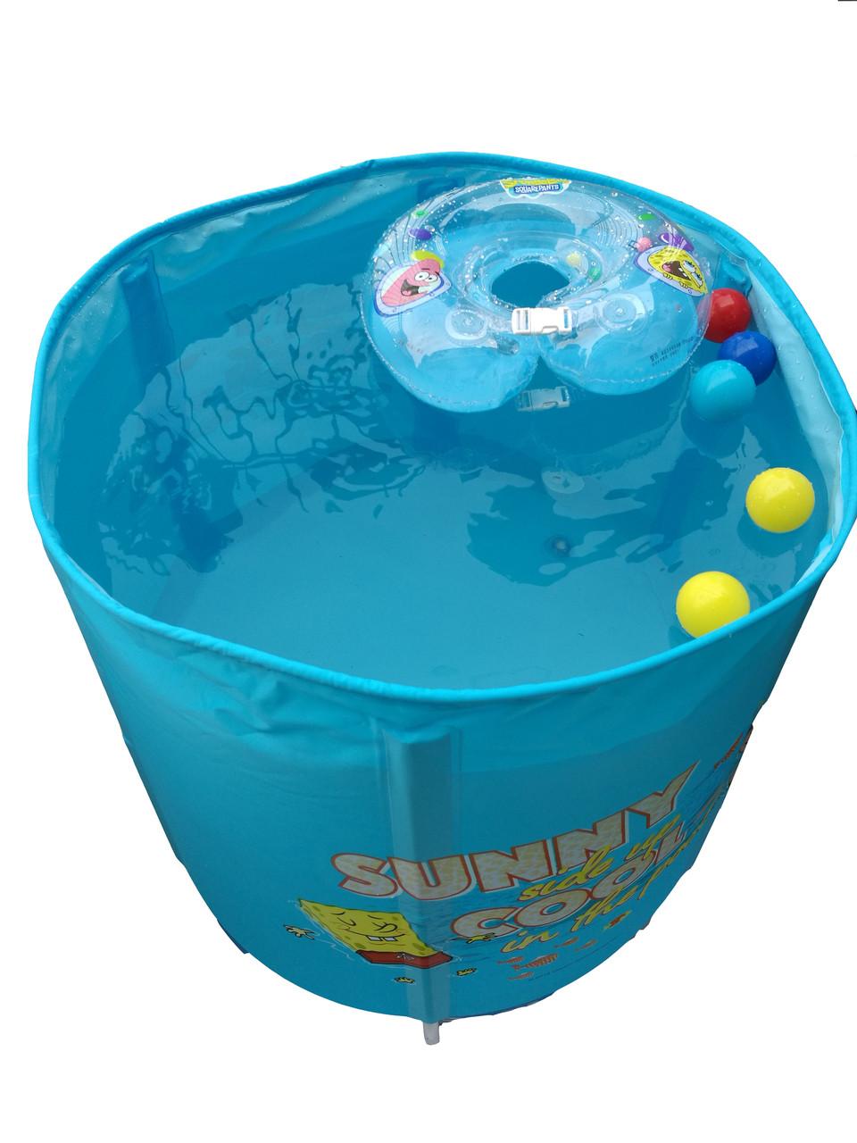 Бассейн для дома синий