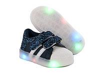 Детские кроссовки с светящейся подошвой  оптом от GFB G168-1 (8 пар, 21-26)