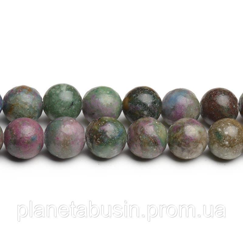 8 мм Рубиновый Апатит, CN280, Натуральный камень, Форма: Шар, Отверстие: 1мм, кол-во: 47-48 шт/нить