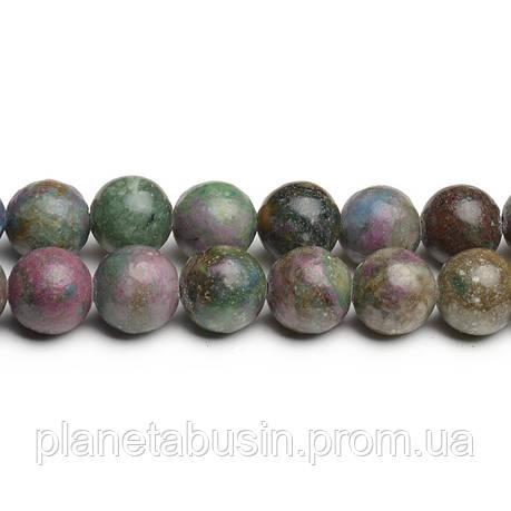 8 мм Рубиновый Апатит, CN280, Натуральный камень, Форма: Шар, Отверстие: 1мм, кол-во: 47-48 шт/нить, фото 2