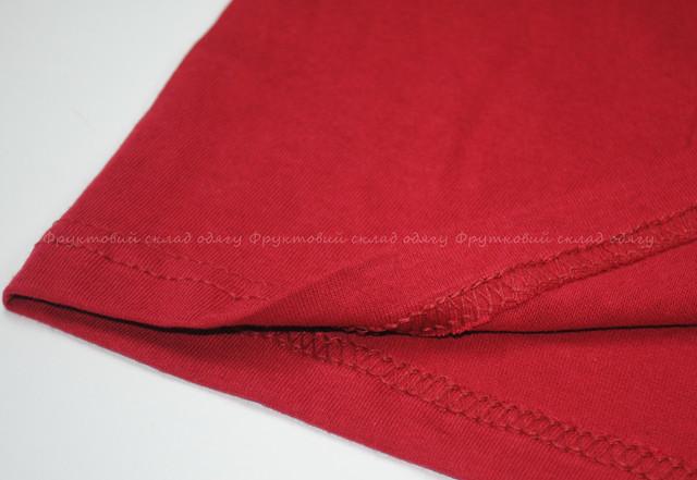 Кирпично-красная детская легкая футболка