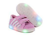 Детские кроссовки с светящейся подошвой  оптом от GFB G169-3 (8 пар, 21-26)