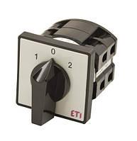 Кулачковый переключатель пакетный CS (1-0-2, серо-черный), ETI,