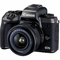 Цифровой фотоаппарат Canon EOS M5 + 15-45 IS STM Kit Black (1279C046)