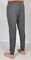 Штаны спортивные мужские под манжет с принтом M черный, фото 3