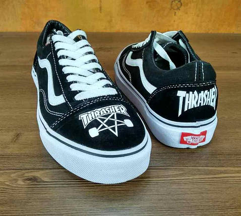 Кеды THRASHER x Vans Old Skool (Топ реплика ААА+), vans old school, ванс олд скул, фото 2