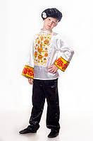 Хохлома русский национальный костюм для мальчика