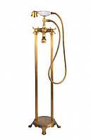 Напольный смеситель для ванны Atlantis 3011 золото