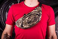Поясная сумка Nike, черная нашивка , цвет - пиксель