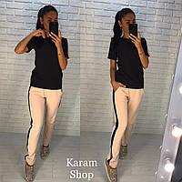 Женский повседневный костюм: футболка и штаны (4 цвета)