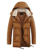 Мужской зимний пуховик с капюшоном. Модель 6107