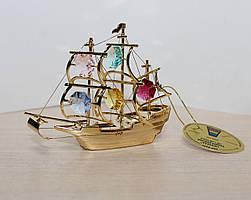 Фігурка з кристалами Сваровські Корабель 10 см AR -3451/ 1