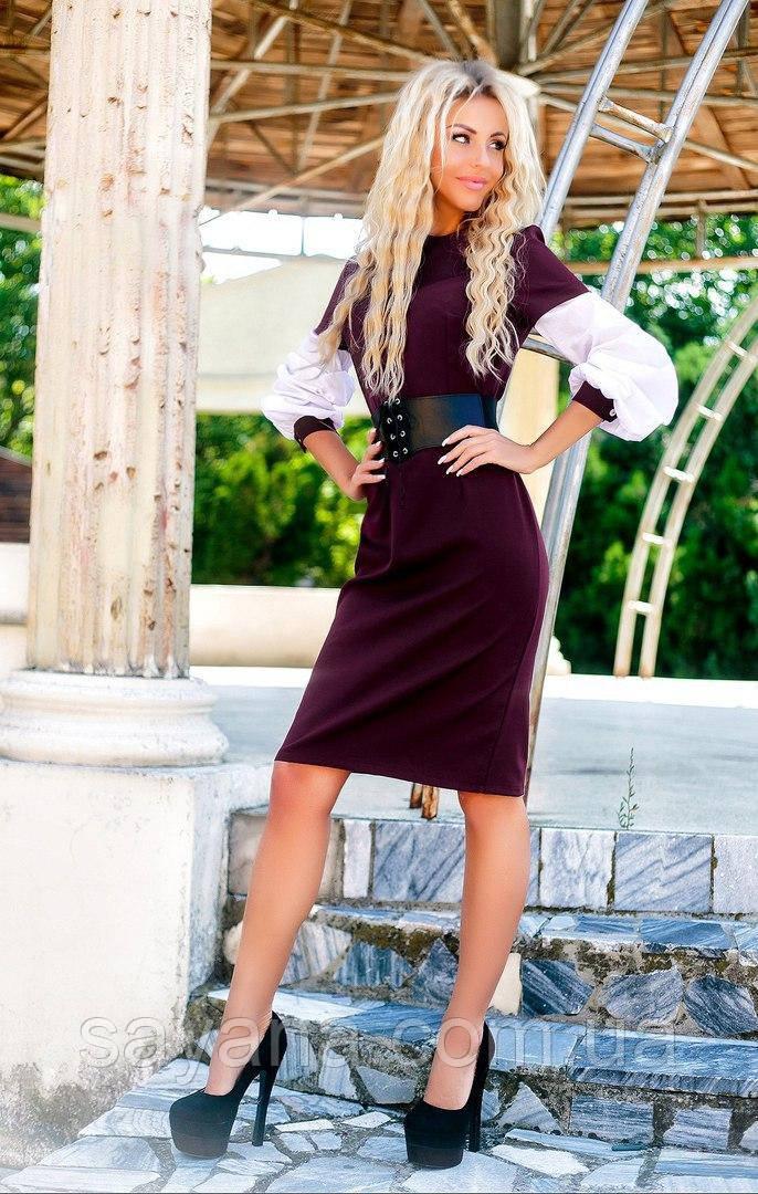 Женское платье с корсетом в комплекте в расцветках. ПН-2-0817