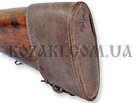 Затыльник- чехол кожаный на шнуровке, коричневый