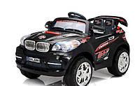 Электромобиль детский Джип Bmw M 0570 AR-2 на р/у с надувными колесами Черного цвета