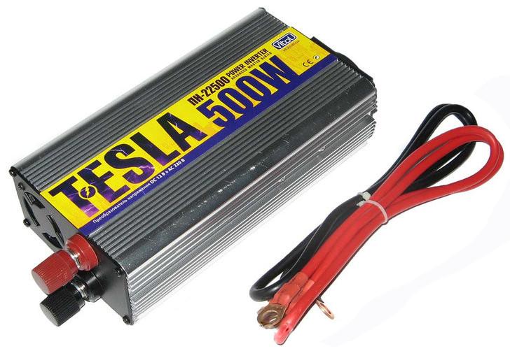 Преобразователь напряжения 12V-220V 500W с USB (модифицированная волна) прикуриватель/клеммы