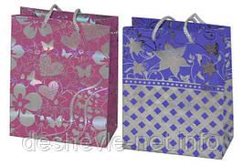 Пакет картонный (14х18х7см с фольгой 2 цвета)