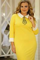 Платье Галстук вышивка большого размера 48-94 батал