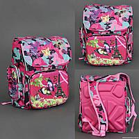Рюкзак школьный 555-420 3 отделения, 2 кармана, 2 отделения внутри, ортопедическая спинка