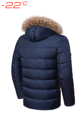 Мужская темно-синяя зимняя куртка с мехом Braggart (р. 46-56) арт. 4457, фото 2