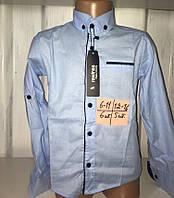 Рубашка для мальчика с длинным рукавом 12-16 лет