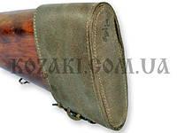 Затыльник- чехол кожаный на шнуровке, оливковый