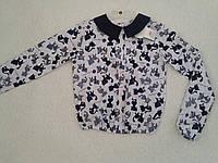 Блуза школьная с длинным рукавом для девочки р.128-158 Польша