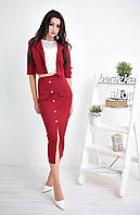 Женский стильный костюм: жакет и юбка-карандаш (3 цвета)