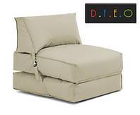 """Кресло кровать """"zet""""бежевое , раскладное кресло,кресло мешок, кресло для дома, бескаркасное кресло., фото 1"""